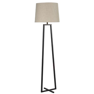 Ranger Oil Rubbed Bronze One-Light Floor Lamp with Oatmeal Tapered Drum Shade