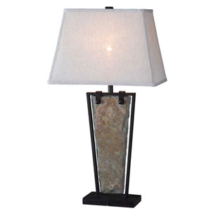 Free Fall Natural Slate Table Lamp