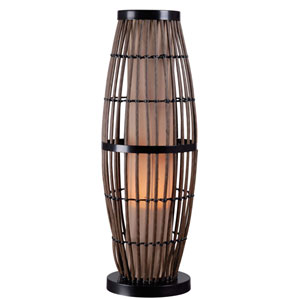 Biscayne Rattan with Bronze Accents Outdoor Table Lamp