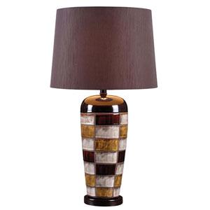 Torino Ceramic Multicolored Squares One Light Table Lamp