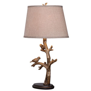 Tweeter Bronzed One Light Table Lamp