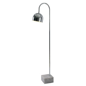 Maverick Chrome with White Marble Base One-Light Floor Lamp