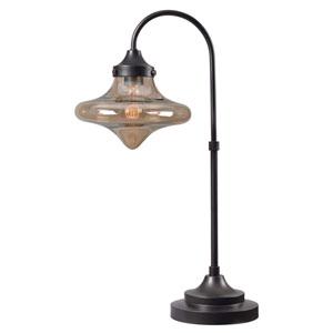 Rain Drop Warm Bronze One-Light Table Lamp
