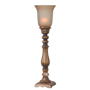 Turner Gold Antiqued One-Light Table Torchiere