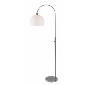 Gateway Brushed Steel 30-Inch One-Light Arc Floor Lamp