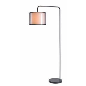 Derek Graphite 30-Inch One-Light Arc Floor Lamp