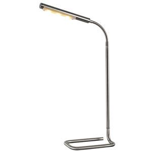 Slither Brushed Steel Three-Light LED Desk Lamp