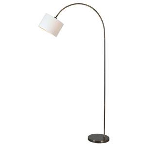Archer Antique Brass One-Light Arc Floor Lamp