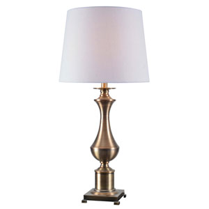 Isaac Antique Brass One-Light Table Lamp
