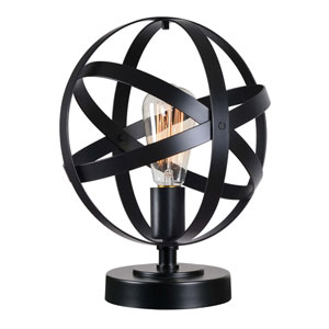 Global Black One-Light Accent Table Lamp