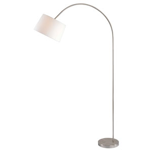 Triumph Brushed Steel One-Light Arc Floor Lamp