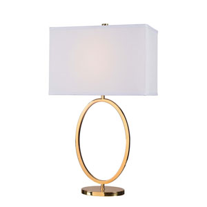 Oke Gold Plated One-Light Table Lamp