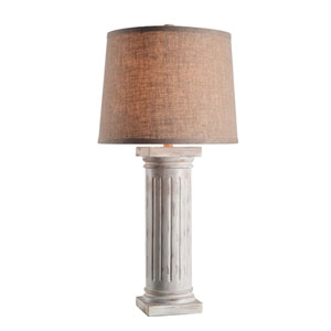 Doric Antique White One-Light Table Lamp