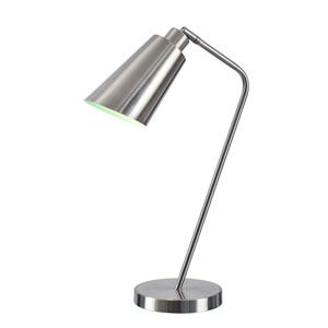 Lynn Brushed Steel One-Light Desk Lamp