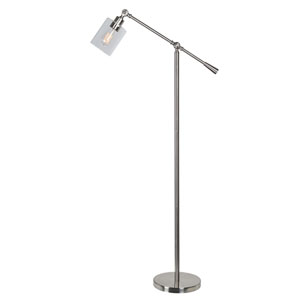 Thornton Brushed Steel One-Light Floor Lamp