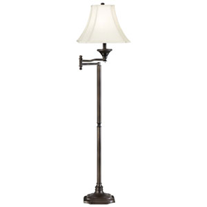Wentworth Burnished Bronze Swing Arm Floor Lamp