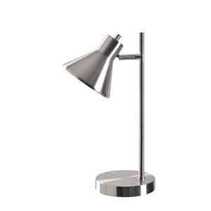 Ash Brushed Steel 11-Inch One-Light Desk Lamp