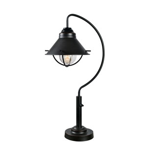 Harbour Oil Rubbed Bronze 14-Inch One-Light Outdoor Table Lamp