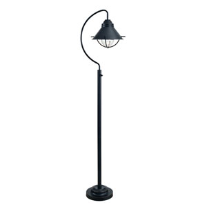 Harbour Oil Rubbed Bronze 14-Inch One-Light Outdoor Floor Lamp
