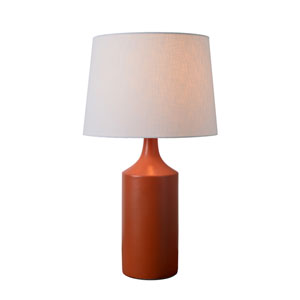 Crayon Matte Orange Ceramic 14-Inch One-Light Table Lamp