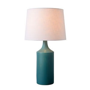 Crayon Matte Teal Ceramic 14-Inch One-Light Table Lamp