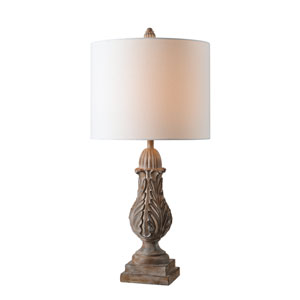 Plume Weathered Wood 14-Inch One-Light Table Lamp