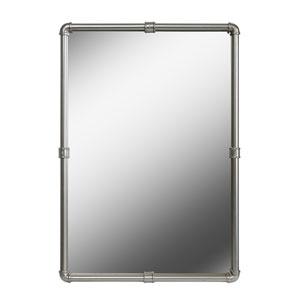 Steam Fitter Vintage Metal 26-Inch  Wall Mirror