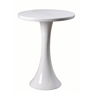Snowbird Gloss White  Accent Table