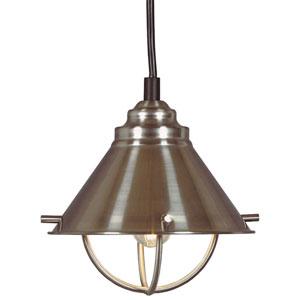 Harbour Brushed Steel One-Light Candelabra Mini Pendant