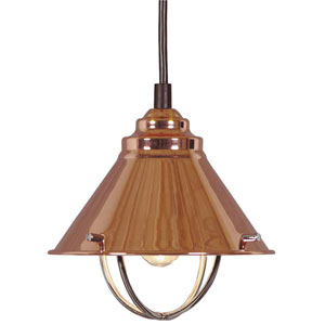 Harbour Copper One-Light Candelabra Mini Pendant
