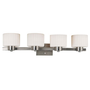 Legacy Brushed Steel Four-Light Bath Fixture