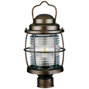 Beacon Gilded Copper Outdoor Post Lantern