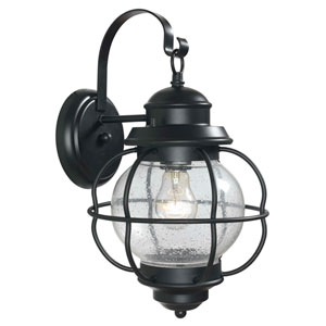 Hatteras Medium Black Outdoor Wall Mounted Lantern