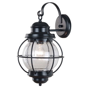Hatteras Large Black Outdoor Wall Mounted Lantern