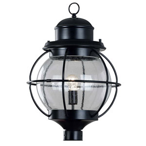 Hatteras Black Outdoor Post Mounted Lantern