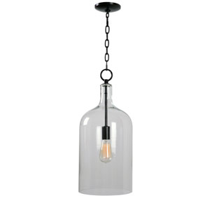 Capri Blackened Oil Rubbed Bronze 10-Inch One-Light Mini Pendant
