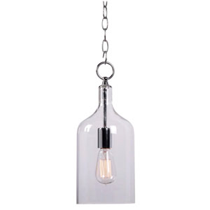 Capri Chrome Single Light Mini Pendant