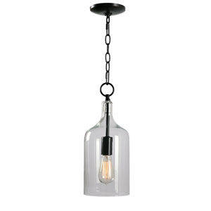 Capri Blackened Oil Rubbed Bronze 6-Inch One-Light Mini Pendant