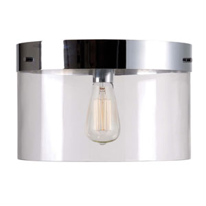 Capri Chrome One-Light Flush Mount