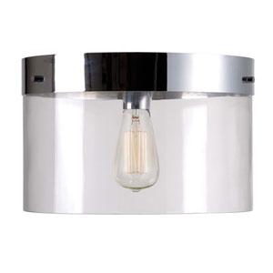 Capri Chrome One-Light Flush Mount