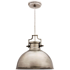 Nautilus Antique Nickel One-Light Pendant