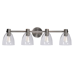 Edis Brushed Steel Four-Light Vanity