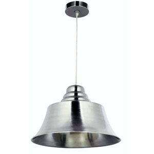 Spinnaker Brushed Steel One-Light Pendant