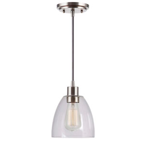 Edis Brushed Steel One-Light Mini Pendant