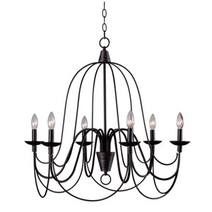 Pannier Oil Rubbed Bronze Six-Light Chandelier