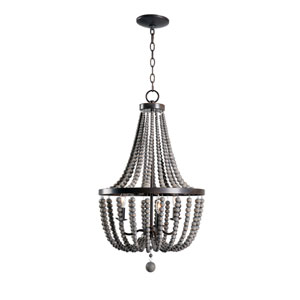 Dumas Golden Bronze 16-Inch Three-Light Chandelier