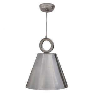 Owen Polished Nickel One-Light Pendant