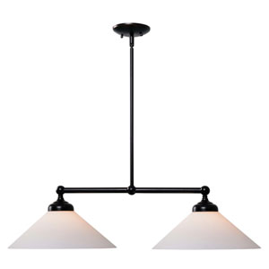 Conical Oil Rubbed Bronze Two-Light Island Pendant