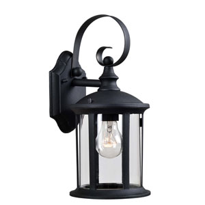 Leo Black One-Light Outdoor Wall Lantern