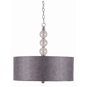 Maya Brushed Steel Three-Light Pendant